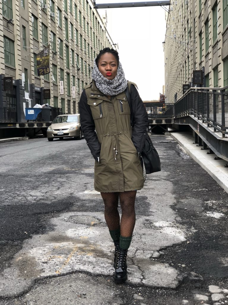 winter time style-military-parka