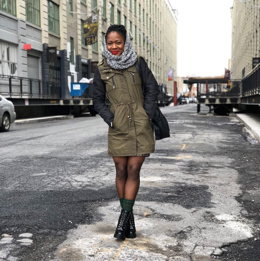 winter time style-military parka